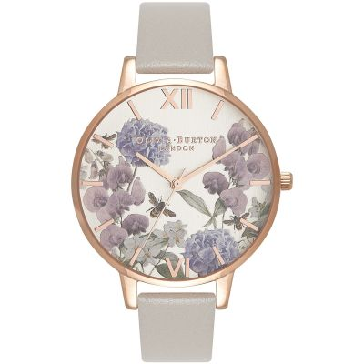 Montre Femme Olivia Burton Vegan Friendly Rose Gold & Grey OB16PL30