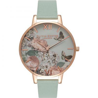 Signature Florals Rose Gold & Mint Watch