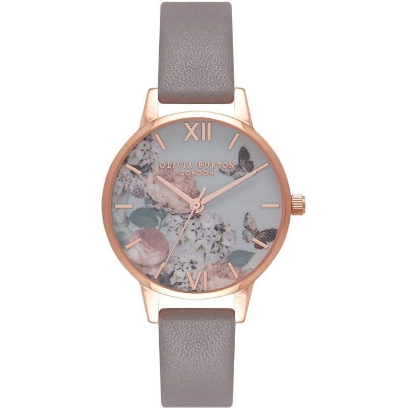 Signature Florals Rose Gold & London Grey Watch