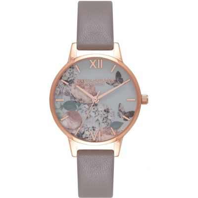 Montre Femme Olivia Burton Signature Florals Ip Black And Rose Gold & London Grey OB16EG67