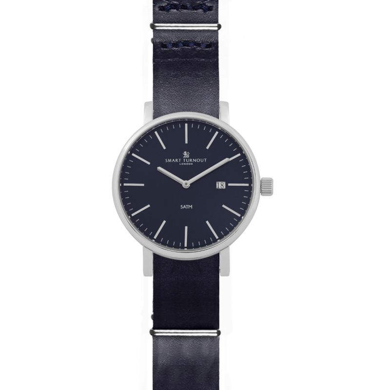 Mens Smart Turnout Duke Blue Dial Watch With Blue Leather Strap Watch