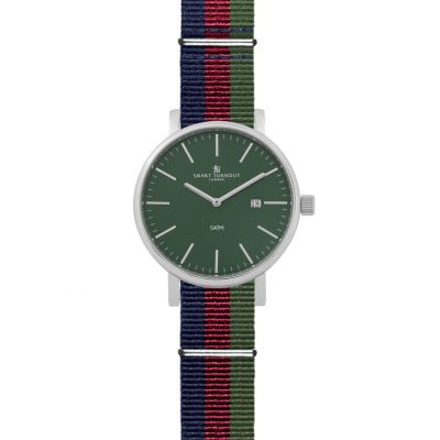Smart Turnout Duke Green Dial Watch With Nato Nylon Strap Herrenuhr in Mehrfarbig STK4/GR/56/W-BW