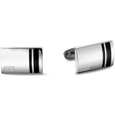 Mens Tommy Hilfiger Stainless Steel Fine Core Cufflinks 2701019