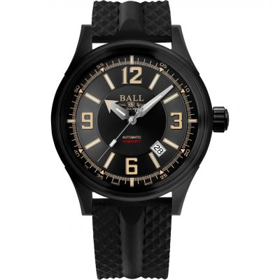 Mens Ball Fireman Racer DLC Automatic Watch NM3098C-P1J-BKBR