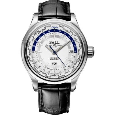 Montre Homme Ball Trainmaster Worldtime GM2020D-LL1CJ-SL