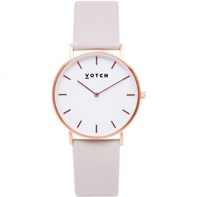Unisex Votch The Light Grey and Rose Gold 38mm Watch VOT0003