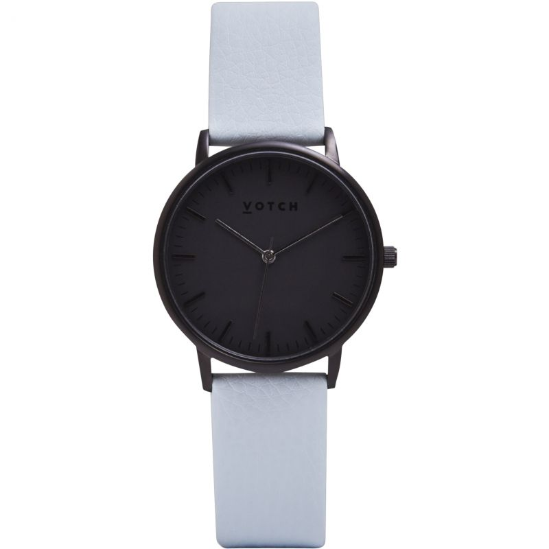 Ladies Votch The All Black And Light Blue 36mm Watch