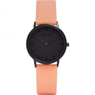 Ladies Votch The All Black And Coral 36mm Watch VOT0019