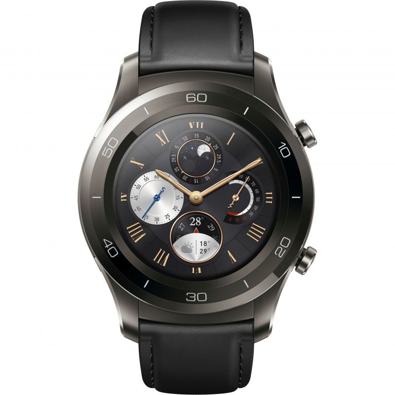 Unisex Huawei Watch 2 Classic Bluetooth Smartwatch for Android and iOS Titanium Watch