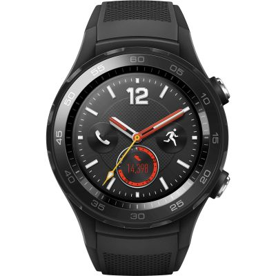 Huawei Watch 2 Bluetooth 4G Sport Smartwatch for Android and iOS Unisexklocka Svart 120141