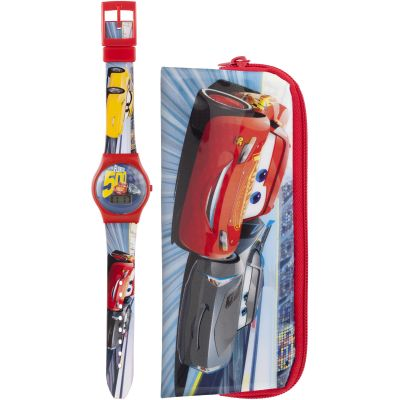Childrens Character Disney Cars 3 Gift Set Watch DC303SET
