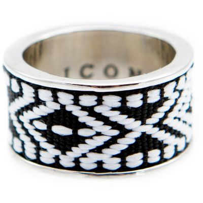 Mens Icon Brand Base metal Band Ring P1245-R-SIL-LGE