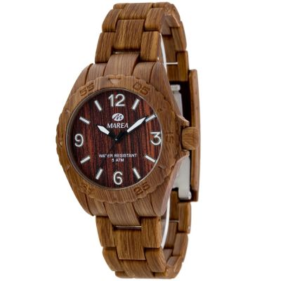 Ladies Marea Wood Look Watch 35297/6