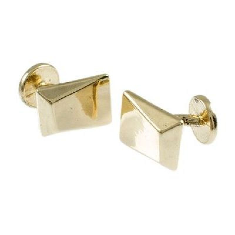 Ladies Icon Brand Gold Plated Faceted Cufflinks Formal P1359-CLK-GLD