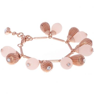 Ladies Ted Baker Rose Gold Plated Perses Mini Plisse Bracelet TBJ1613-24-13