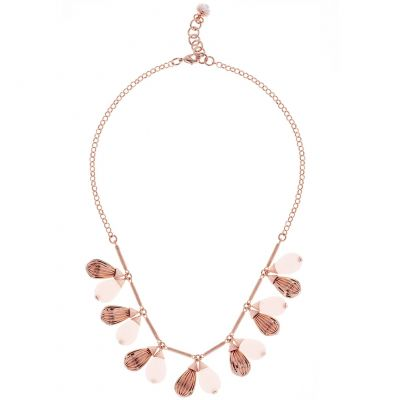 Ladies Ted Baker Rose Gold Plated Polina Mini Plisse Necklace TBJ1610-24-13