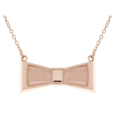 Ladies Ted Baker Rose Gold Plated Colorr Chroma Bow Necklace TBJ1588-24-16