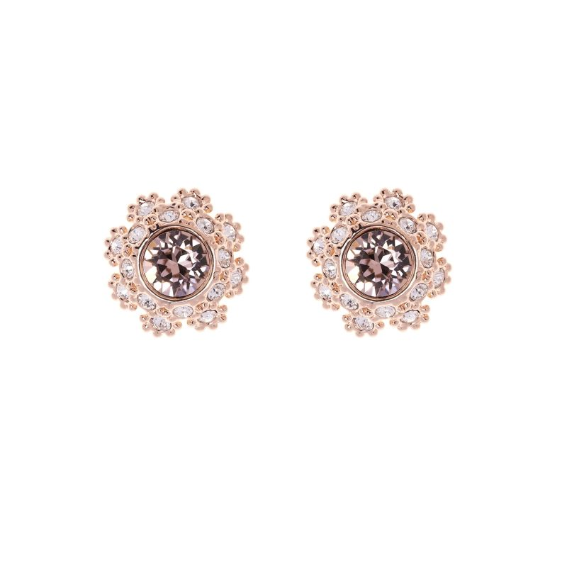 Ladies Ted Baker Gold Plated Seraa Crystal Daisy Lace Stud Earring TBJ1584-24-16