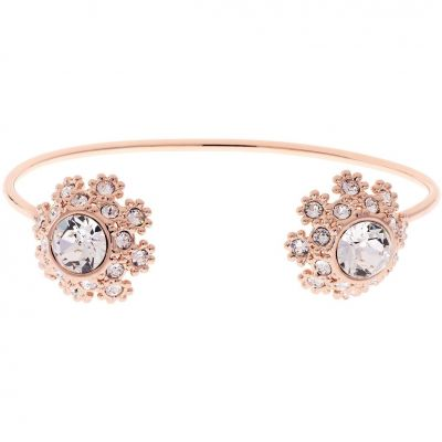 Ladies Ted Baker Rose Gold Plated Seniie Crystal Daisy Lace Bangle TBJ1582-24-02