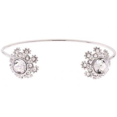 Ladies Ted Baker Silver Plated Seniie Crystal Daisy Lace Bangle TBJ1582-01-02