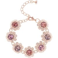 Ladies Ted Baker Rose Gold Plated Seah Crystal Daisy Lace Bracelet TBJ1581-24-34