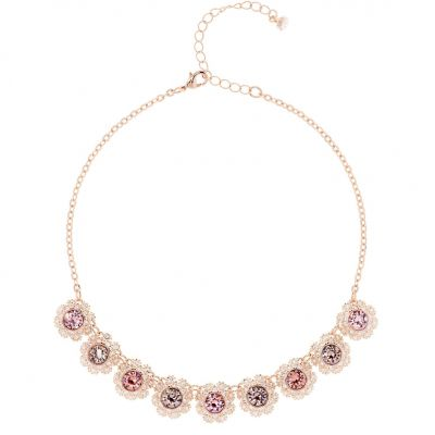 Ladies Ted Baker Rose Gold Plated Siero Crystal Daisy Lace Necklace TBJ1579-24-34
