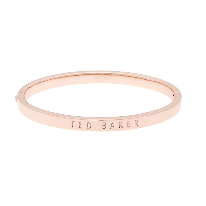 Ladies Ted Baker Rose Gold Plated Clemina Hinge Metallic Bangle TBJ1568-24-03