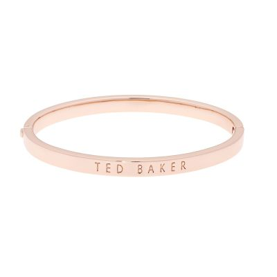 Ted Baker Dames Clemina Hinge Metallic Bangle Verguld Rose Goud TBJ1568-24-03