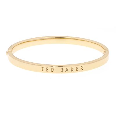 Ladies Ted Baker Gold Plated Clemina Hinge Metallic Bangle TBJ1568-02-03