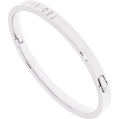 Ladies Ted Baker Silver Plated Clemina Hinge Metallic Bangle TBJ1568-01-03