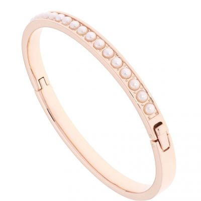 Ladies Ted Baker Rose Gold Plated Clemara Hinge Crystal Bangle TBJ1567-24-28