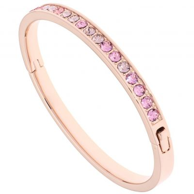 Ladies Ted Baker Rose Gold Plated Clemara Hinge Crystal Bangle TBJ1567-24-248