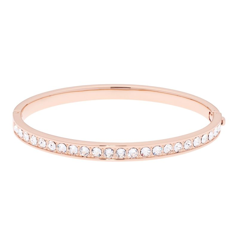Ladies Ted Baker Rose Gold Plated Clemara Hinge Crystal Bangle TBJ1567-24-02