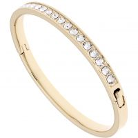 Ladies Ted Baker Gold Plated Clemara Hinge Crystal Bangle TBJ1567-02-02