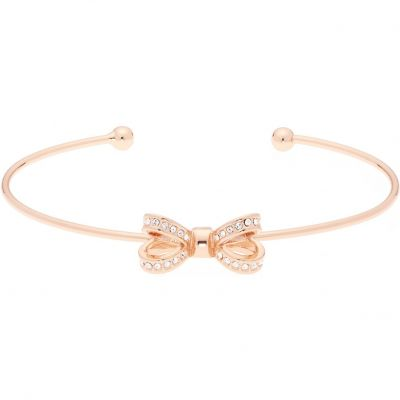 Ladies Ted Baker Rose Gold Plated Olexii Mini Opulent Pave Bow Bangle TBJ1565-24-02