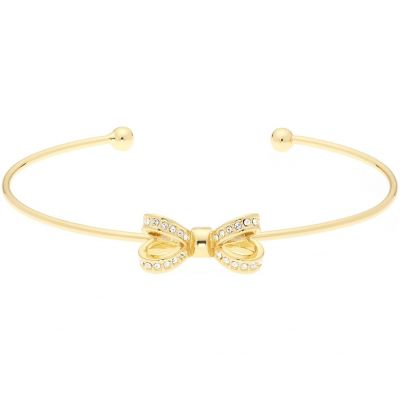 Ladies Ted Baker Gold Plated Olexii Mini Opulent Pave Bow Bangle TBJ1565-02-02