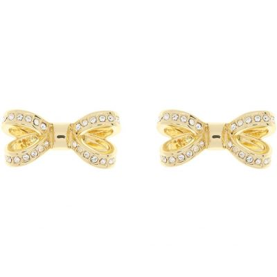 Ladies Ted Baker Gold Plated Olitta Mini Opulent Pave Bow Earring TBJ1563-02-02