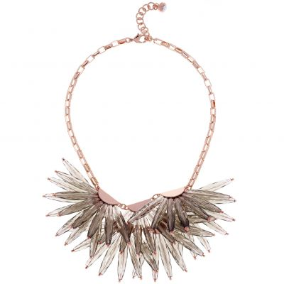 Ladies Ted Baker Rose Gold Plated Florenz Large Star Fringed Necklace TBJ1548-24-23