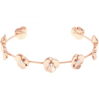 Ladies Ted Baker Rose Gold Plated Parsia Pressed Flower Bangle TBJ1529-24-02