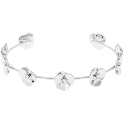 Ladies Ted Baker Silver Plated Parsia Pressed Flower Bangle TBJ1529-01-02