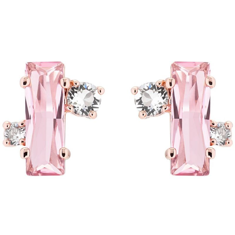 Ladies Ted Baker Rose Gold Plated Bria Crystal Baguette Cluster Stud Earrings TBJ1391-24-07
