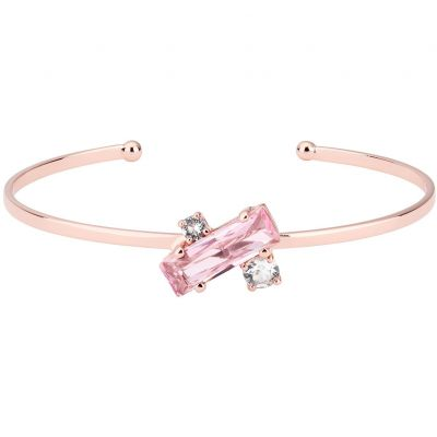 Ted Baker Dames Britte Crystal Baguette Ultra Fine Bangle Verguld Rose Goud TBJ1389-24-07