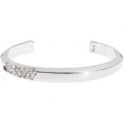 Ladies Karen Millen Silver Plated Sparkling Narrow Bangle KMJ1031-01-02