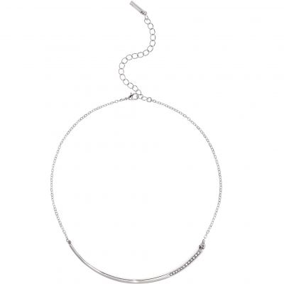 Ladies Karen Millen Silver Plated Crystal Shard Choker KMJ1046-01-02