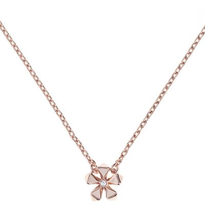 Ladies Karen Millen Rose Gold Plated Petite Geo Flower Necklace KMJ1103-24-02