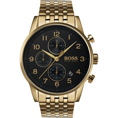 Hugo Boss Navigator Navigator Herrenchronograph in Gold 1513531