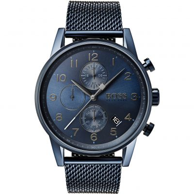 Hugo Boss Navigator Navigator GQ Edition Herrenchronograph in Blau 1513538