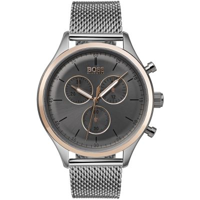 Hugo Boss Companion Companion Herrenchronograph in Silber 1513549