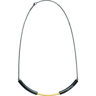 Ladies Calvin Klein Black Ion-plated Steel & Gold Plated Disclose Choker KJ5FBJ200100