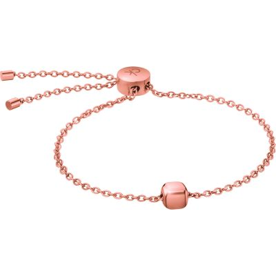 Ladies Calvin Klein Rose Gold Plated Side Bracelet KJ5QPB100100